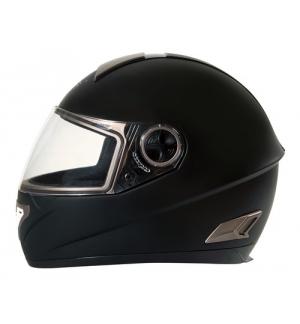 Kio, casco integrale fiberglass - Nero opaco - L