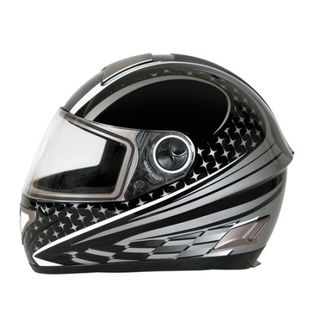 Kio casco integrale Koji fiberglass - Nero - XL