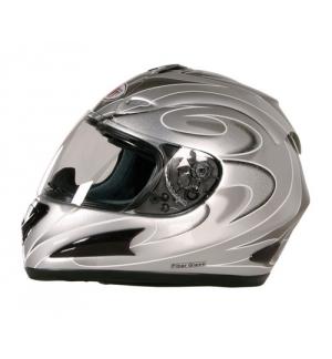 KJ-1, casco integrale fiberglass - Argento - M