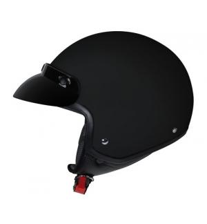 Hiro, casco jet - Nero opaco - XS