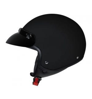 Hiro, casco jet - Nero opaco - XL