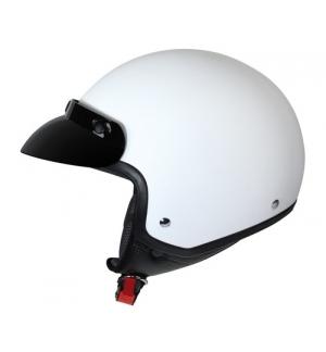 Hiro, casco jet - Bianco opaco - XS