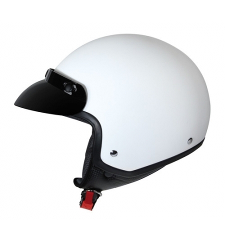 Hiro, casco jet - Bianco opaco - XL