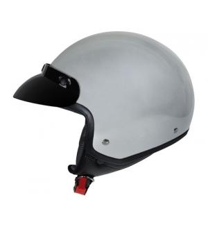 Hiro, casco jet - Argento - XS
