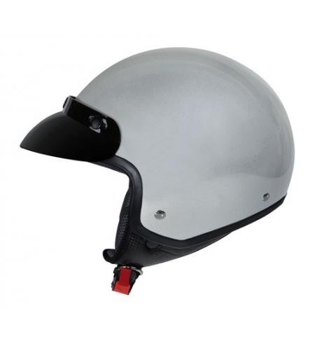 Hiro, casco jet - Argento - L