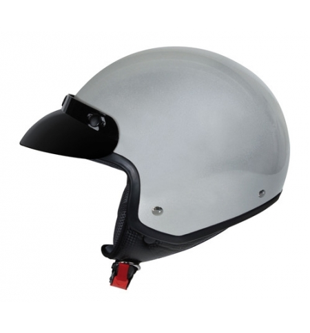 Hiro, casco jet - Argento - XL