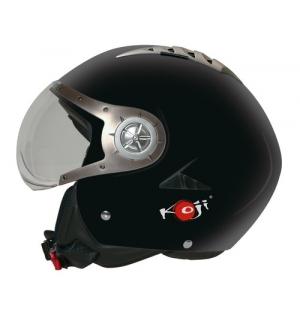 Tomcat, casco jet - Nero opaco - S