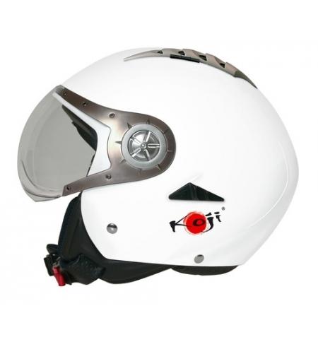 Tomcat casco jet koji - bianco opaco - s