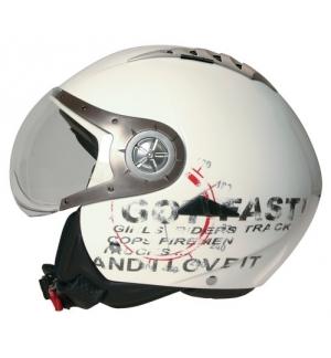 Tomcat casco jet Koji - Bianco - XS