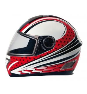 Kio casco integrale Koji fiberglass - Rosso - XL
