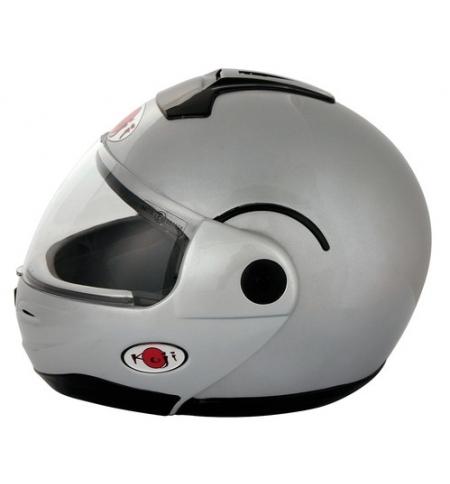 Kj-3, casco modulare - argento - xs