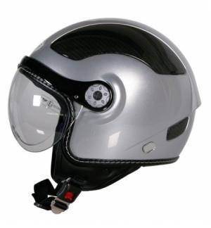 Kj-5, casco jet - argento - m