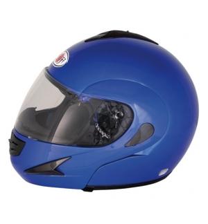 Kj-7, casco modulare - blu - l