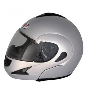 Kj-7, casco modulare - argento - s