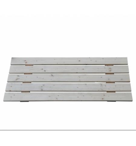 Poggiapiedi in legno per Sauna Finlandese 2 posti