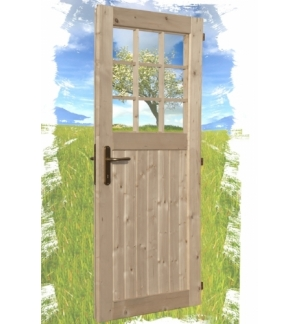 Porta con vetro singola per Box addossato KANSAS 20mm