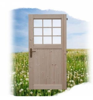 Porta con vetro singola per serra GIRASOLE