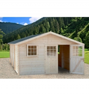 Casetta in legno Barcellona 35mm senza pavimento