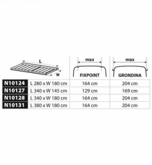 """""""kargo rack"""" 280x180 cm cesta portapacchi per veicoli comm. alluminio"""