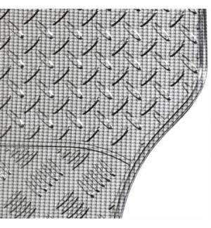Chrome-Carbon, serie tappeti universali in pvc 4 pezzi