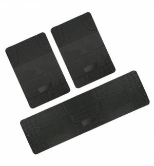 """Set tappeti universali """"maxi"""" pvc nero (posteriore & ponte)"""