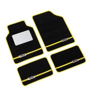 Alu-Tech, serie tappeti 4 pezzi - C - Giallo