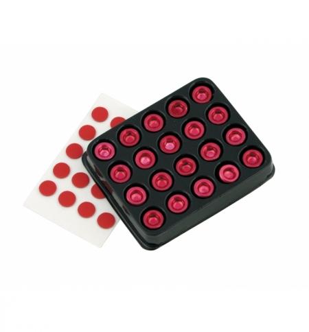 Set 20 bulloni decorativi alluminio rossi