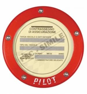 """P/assicurazione""""pilot""""rosso"""
