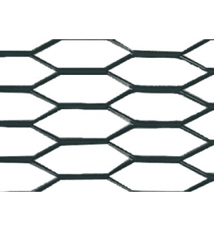 Racing grill 100x33 hexagon col. Nero