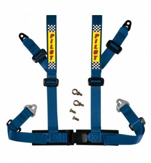 """Cintura di sicurezza 4 punti blu c/omologazione """"e"""""""