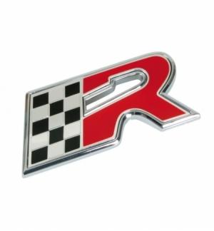 """Emblema cromato """"bandiera+r"""""""