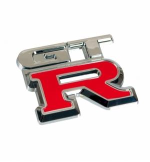 """Emblema cromato """"gt-r"""""""
