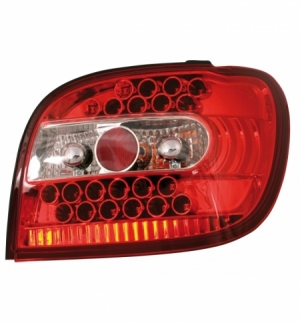 Cp.fari pos performance led toyota yaris, rosso 4 99