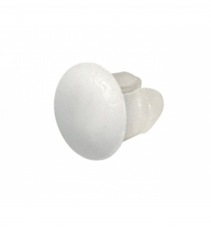 Set 100 bottoni fissaggio per portatarga, bianchi