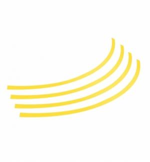 rim-stickers adesivi per ruote 14-16 giallo