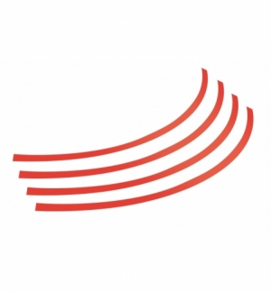 rim-stickers adesivi per ruote 17-20 rosso