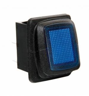 Interruttore impermeabile 12/24v con led blu