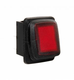 Interruttore impermeabile 12/24v con led rosso