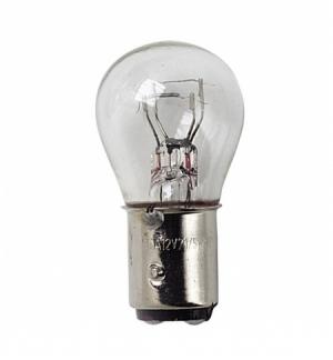 Set 10 lampadine 2 fil.21/5w 12v. Scatola