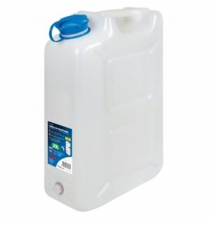Tanica trasparente 20 litri con rubinetto
