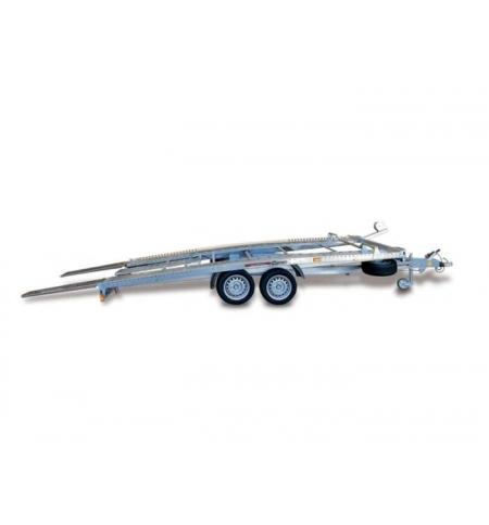 Carrello rimorchio trasporto auto e veicoli PA30 basculante con rampe