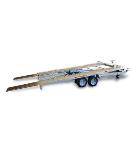 Carrello rimorchio trasporto auto e veicoli PA20 basculante con rampe