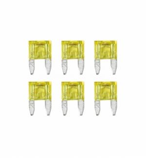 Cart.minifusibili lamellari con led 20a, 6pz