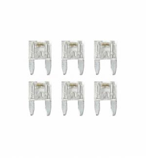 Cart.minifusibili lamellari con led 25a, 6pz