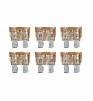 Cart.fusibili lamellari c/led 7,5a, 6pezzi