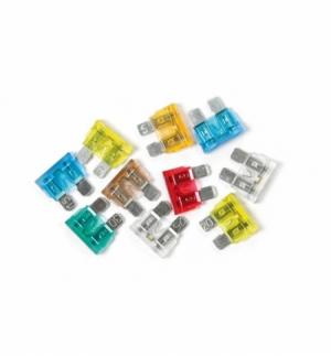 Cart.fusibili lamellari c/led amperaggio assortito, 10pezzi