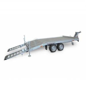 Carrello rimorchio trasporto cose con rampe di salita TM35V timone regolabile in altezza