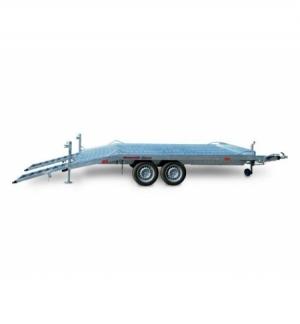 Carrello rimorchio trasporto cose con rampe di salita TM35F timone fisso