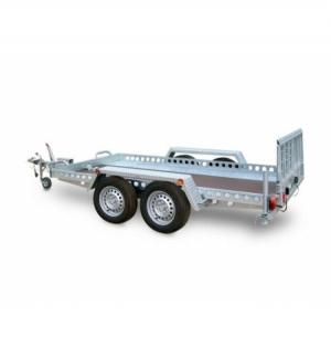 Carrello rimorchio trasporto cose con rampe di salita TMF/15 ribaltabile idraulico
