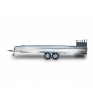 Carrello rimorchio trasporto cose con rampe di salita PT35L ribaltabile idraulico